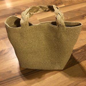 NWOT cute Talbots small straw purse.